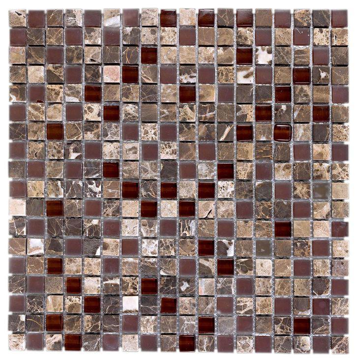 Pastilha de Pedra/Vidro Marrom GS094 30x30cm Colortil R$ 40,43/cada