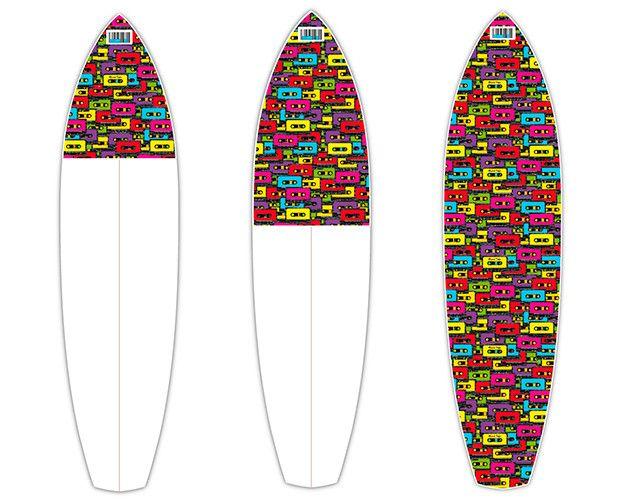 Mixed Tape   CTRL V   Surfboard Customisation   Surfboard Wall Art   Surfboard decals   Surfboard Designs
