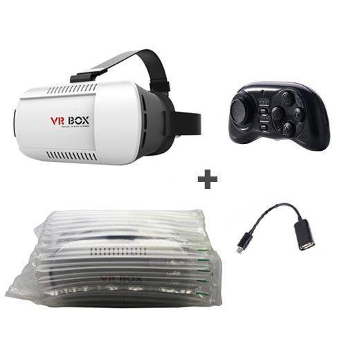Original VR Box Pro 3D Glasses Mobile Virtual Reality Headset Head Mount Google Cardboard Helmet VRBOX + Remote + OTG