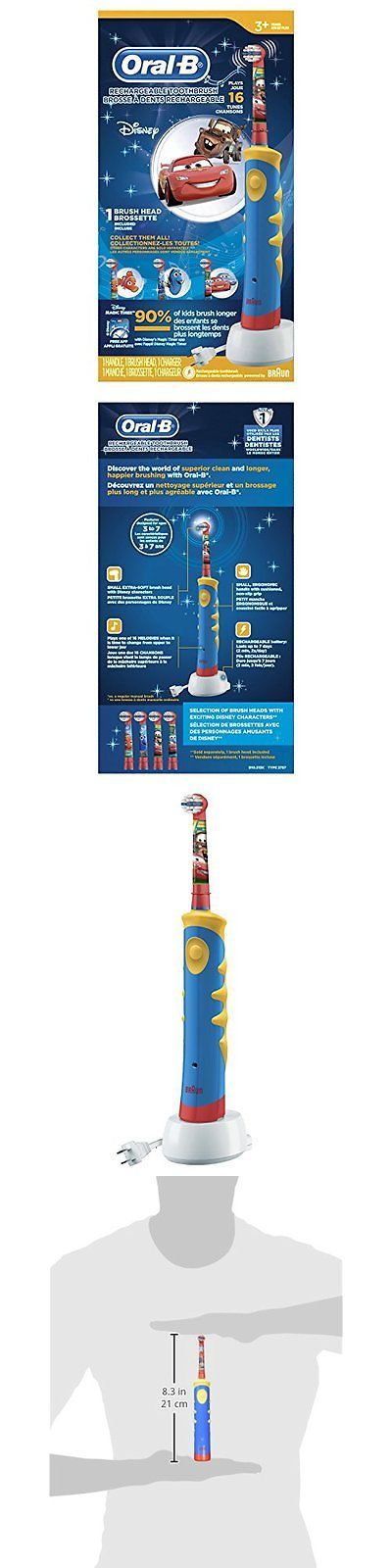 Childrens Oral Care: Electric Toothbrushes Oral B Pro-Health Stages Oral-B Rechargeable Power Brush - BUY IT NOW ONLY: $48.49