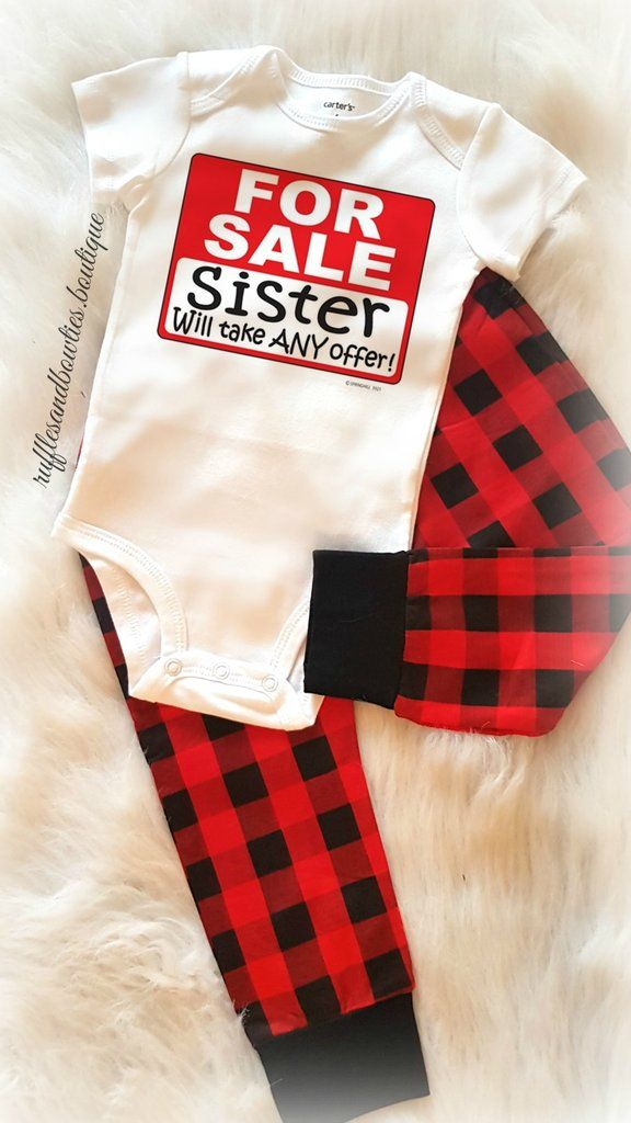 Baby Sister For Sale Shirt/Onesie - Sets Available
