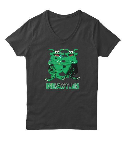 Bff : Beast Friends Forever Besties Tee Black T-Shirt Front