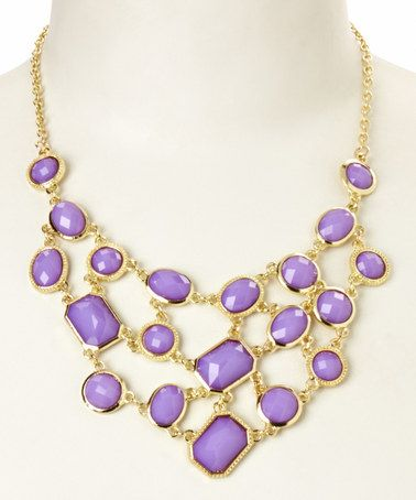 Look at this #zulilyfind! Purple Stone Layered Bib ...