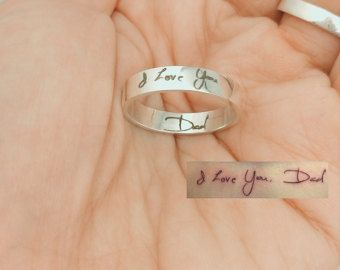 20% OFF Memorial Signature Ring Actual by CaitlynMinimalist
