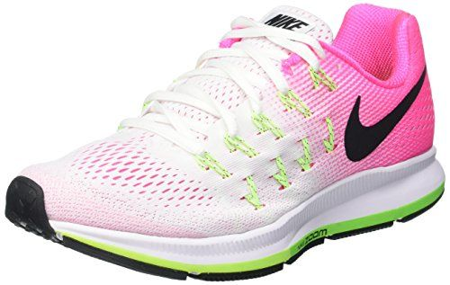 Nike Air Zoom Pegasus 33 WhitePink BlastElectric GreenBlack Womens Running Shoes * Read more  at the image link. Note: It's an affiliate link to Amazon