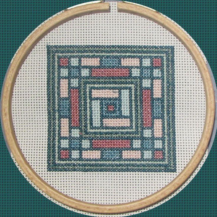 Korean pattern - cross stitch pattern - blue, green and pink de la boutique MyGeekyCrafts sur Etsy
