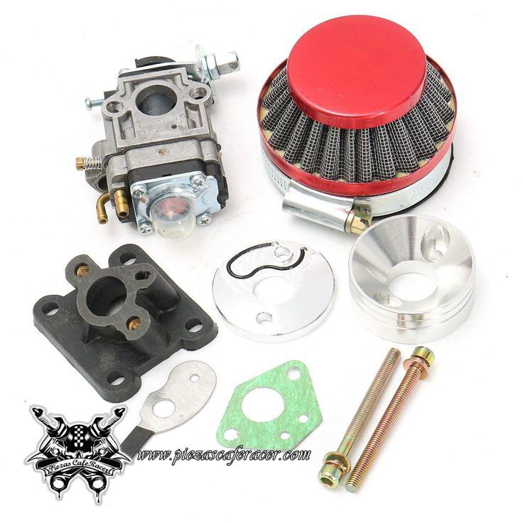 23,61€ - ENVÍO GRATIS - Carburador de Competición con Tobera + Filtro de Aire Para Minimoto