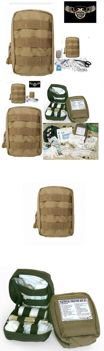 Kits and Bags: Vas Black Ops Tactical Trauma First Aid Kit #1 - Coyote Molle Bag BUY IT NOW ONLY: $34.95