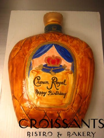 Crown Royal Cake... Perfect! Mike's bday is just around the corner.......