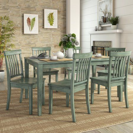 Lexington Large Dining Set With 6 Mission Back Chairs Dining