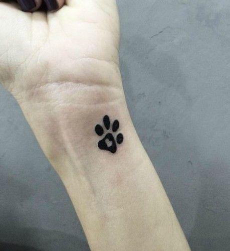 Awesome Pretty Paw Tattoos Design