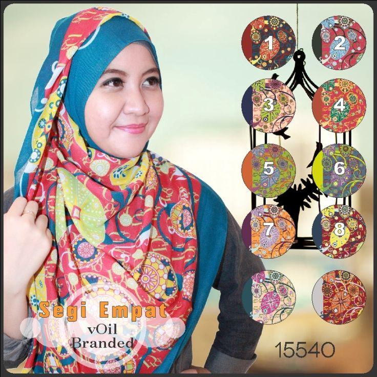 Jilbab Segi Empat Branded Original – Branded Voil 15540
