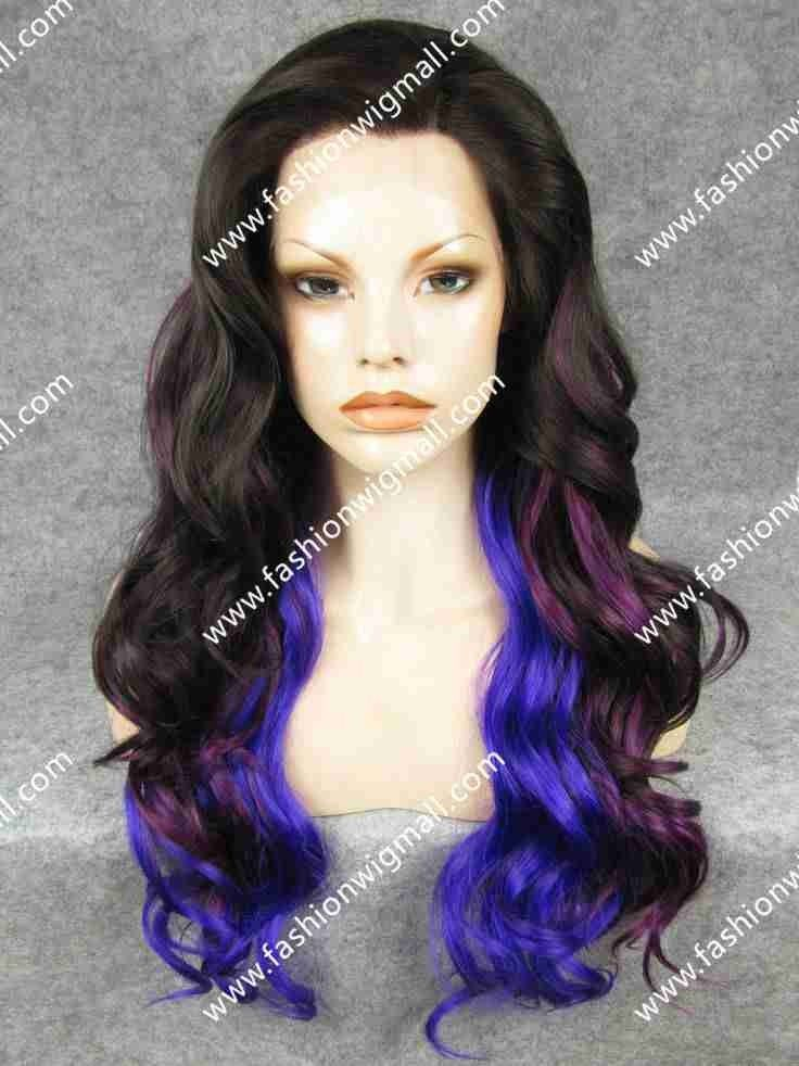 Synthetic Lace Front Halloween Wig #synthetic wigs