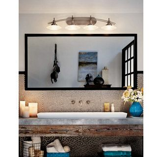 Buy the Kichler Brushed Nickel Direct  Shop for the Kichler Brushed Nickel  Structures 4 Light Wide Vanity Light Bathroom Fixture with Satin Etched  Glass. 17 Best images about Lighting on Pinterest   Jewel box  Etched