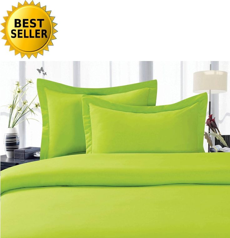 3piece thread count egyptian king bed sheet sets limeneon green