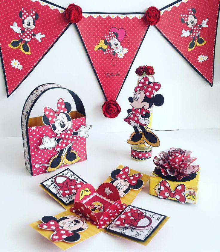 papéis licenciados Disney tema Minnie