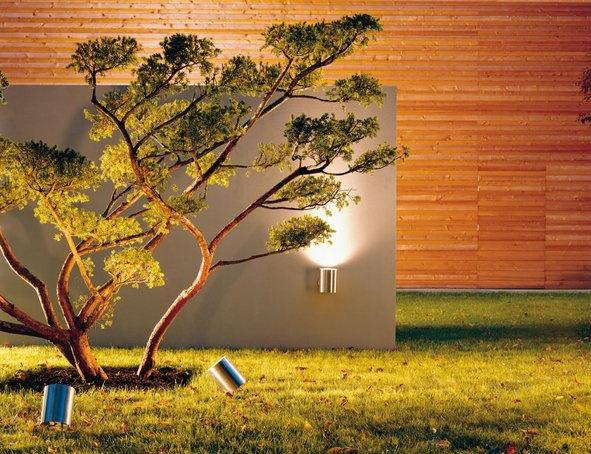 Simple Moderne Beleuchtung l sst diesen Garten zur Geltung kommen