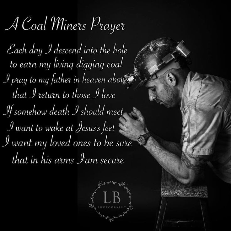 Coal miners prayer