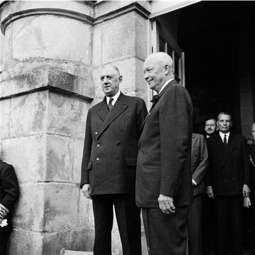 Voyage en France de Dwight D. Eisenhower, président des États-Unis d'Amérique.  2 septembre 1959  Archives de la présidence de la République sous Charles de Gaulle.  5/AG/1/891/reportage 1270/8359  Paris, Archives nationales  © Archives nationales, France