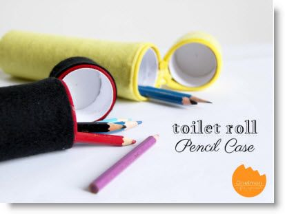 Toilet Roll Pencil Case with Felt ♥ http://felting.craftgossip.com/2013/06/20/toilet-paper-roll-pencil-case-with-felt-tutorial/