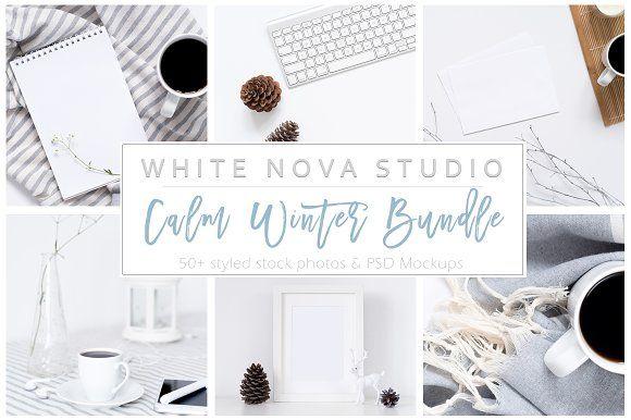 Calm Winter Bundle by White Nova Studio on @creativemarket