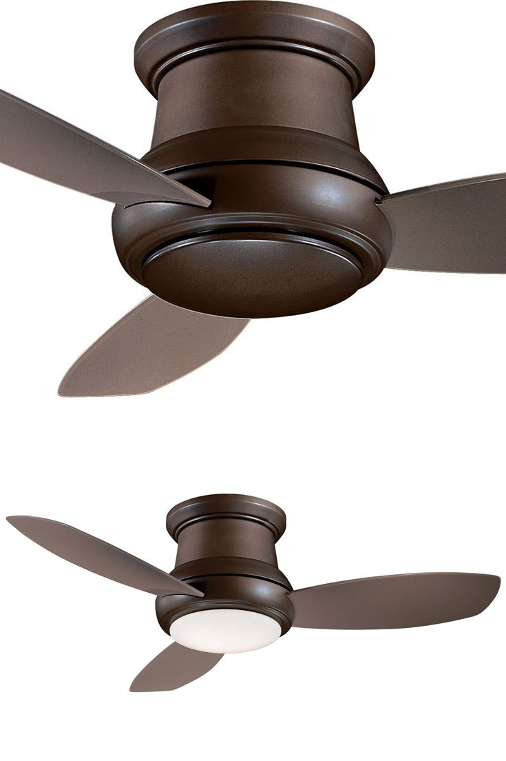 "This 44"" ceiling fan features an oil rubbed bronze finish. It has 3 taupe concave blades with a 14 degree pitch. It includes a full function hand held remote control and a cap for non-light use. This fan is a flush mount fan which is ideal for low ceiling environments the total hanging depth is 11 1/2"" with or without the light. Please note this item has a lifetime warranty and the details are in the box."