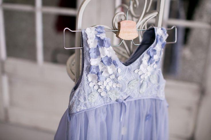 Детское серое платье | Прокат детских платьев для familylook