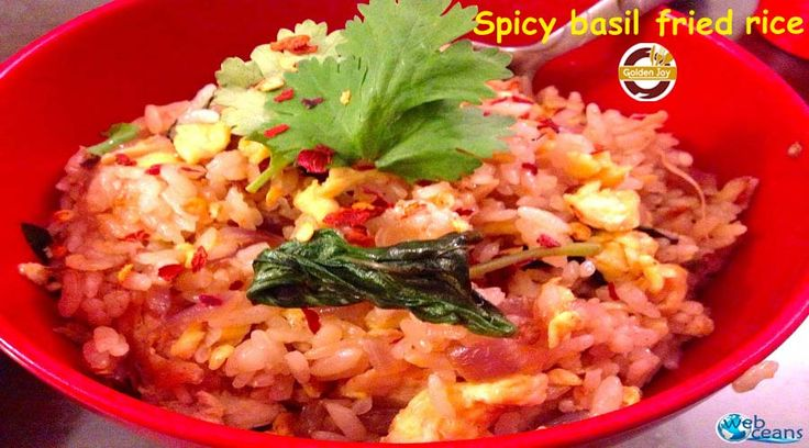"""""""Fried rice is a dish of steamed rice stir fried in a work"""". Enjoy delicious Fried Rice at Kolkata's Best Chinese Restaurant, Golden Joy."""