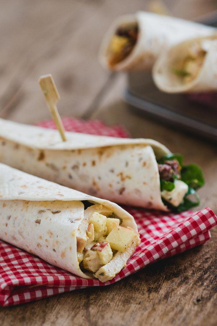 Heb je zin in een lunch zonder brood? Deze 3 snelle lunch wraps zijn precies wat je zoekt. Snel te maken en perfect voor de afwisseling! Op deze foto zie je een snelle kip kerrie salade.
