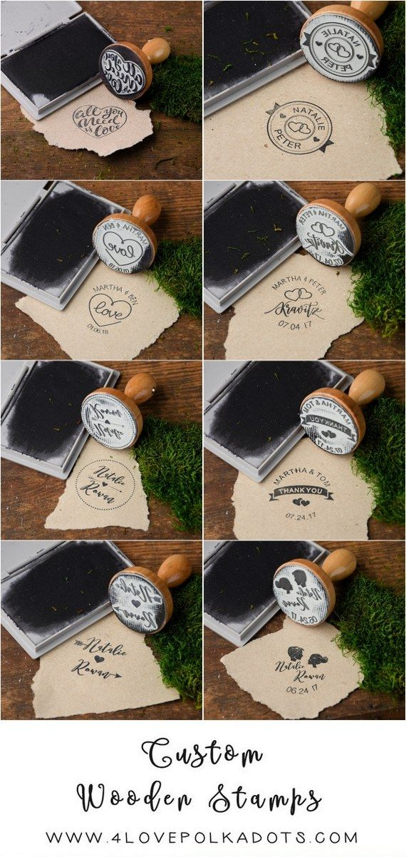 "Rustic country ""heart"" wooden wedding stamps #rusticwedding #countrywedding"