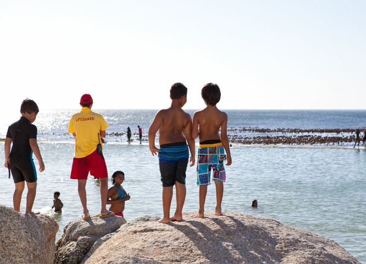 Camps Bay - kids on the beach
