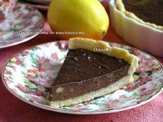 От простоты до изысканности...: Лимонный тарт с шоколадно-банановым кремом