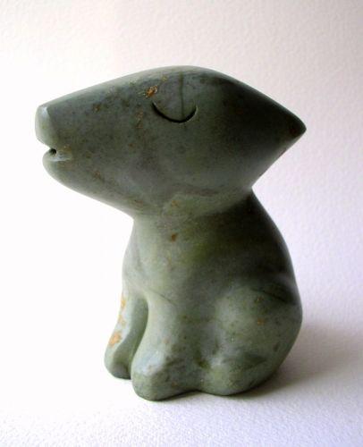 chien ,gérard collas,sculpture,stéatite