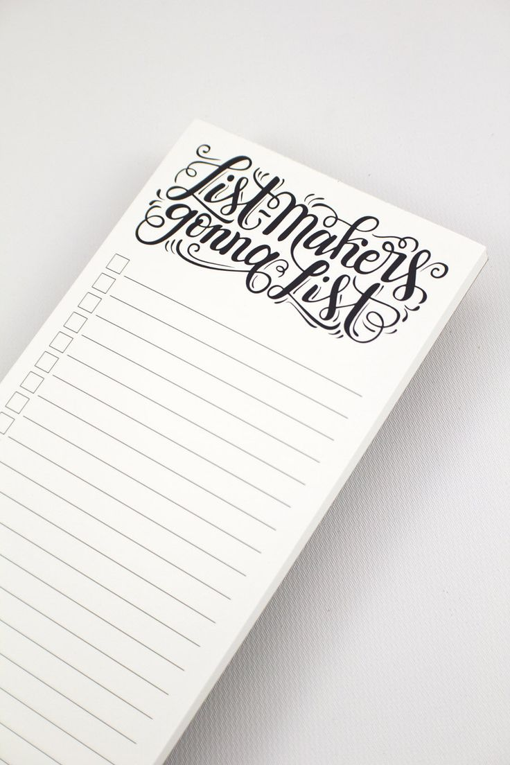 notepad - List-makers gonna list -  50 tear-off pages by HowjoyfulShop on Etsy https://www.etsy.com/listing/105501341/notepad-list-makers-gonna-list-50-tear