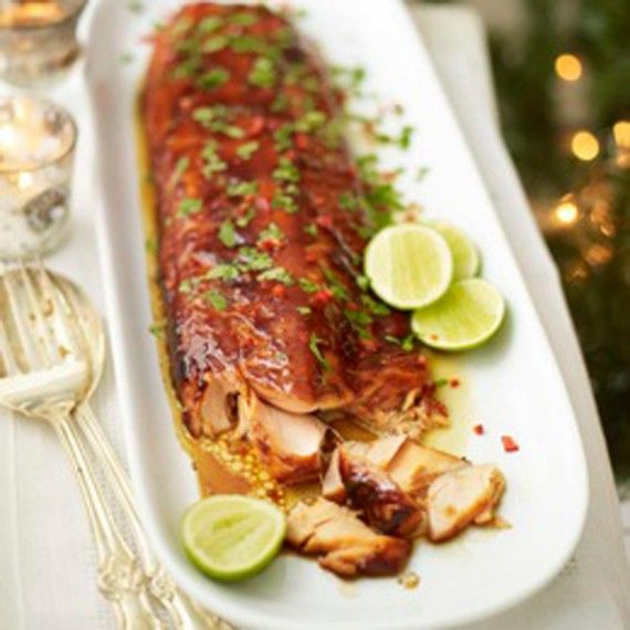If you're feeding a crowd this Asian sticky salmon recipe is utterly delicious and you'll have more than enough with a side of salmon