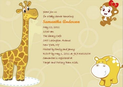 Nice FREE Template Baby Shower Invitations Online