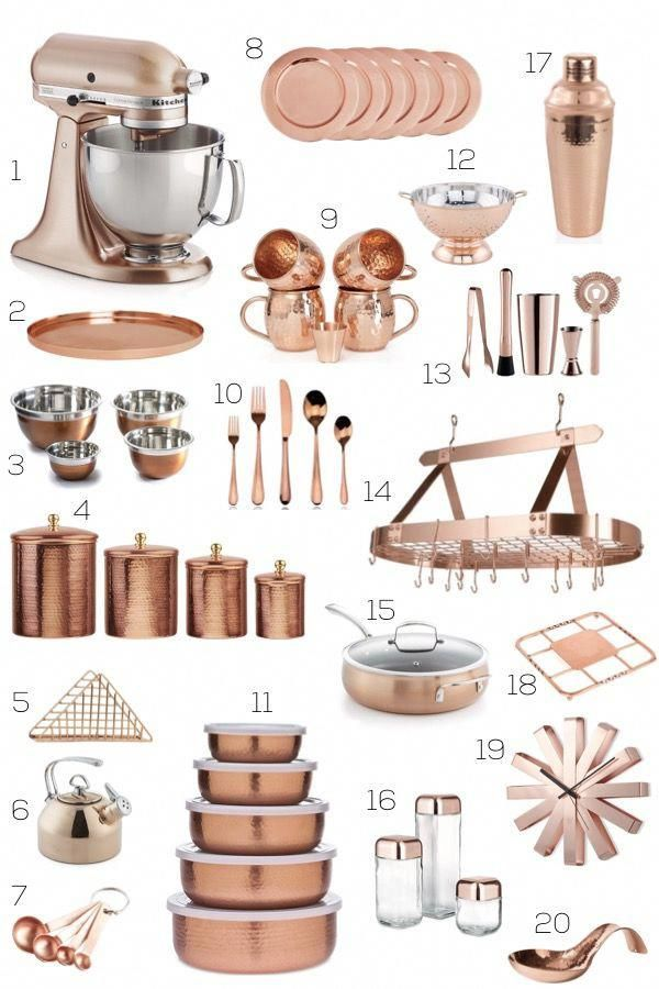 Grey And Copper Kitchen Accessories