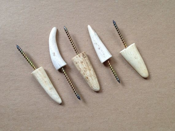 Deer Antler Wall Hooks by jordanwoodworks on Etsy