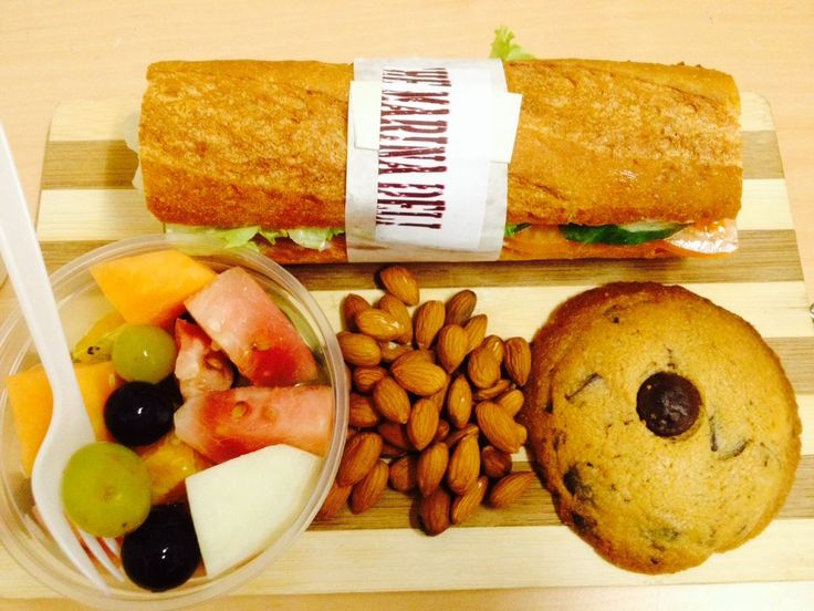 Stuck on what to have for lunch???We can now offer you a lunch pack containing one of our delicious filled baguettes, fruit salad, a chocolate chip cookie & almonds for only $18...YUM!!!Available from The Marina Deli 7 days a week.Please phone 707 4011 to place a order for more than 2 packs.(Discounts available on large orders)