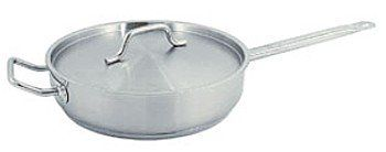 7 QT COMMERCIAL STAINLESS STEEL SAUTE PAN W/ LID - NSF ** Check this awesome image  : Saute Pans