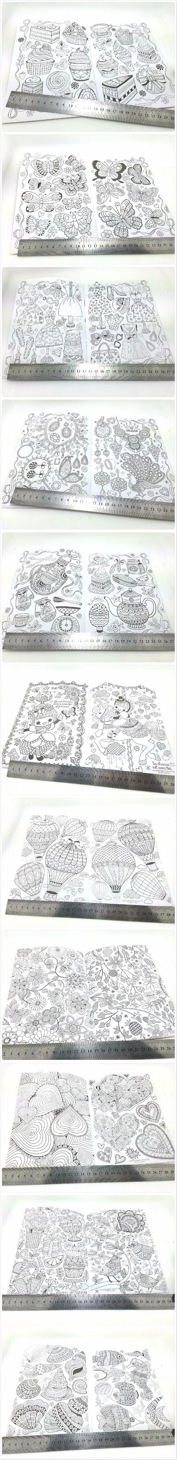 A5 секретный сад в Inky охота за сокровищами книжка раскраска для детей взрослых снять стресс убийство срок граффити живопись рисунок книга купить на AliExpress