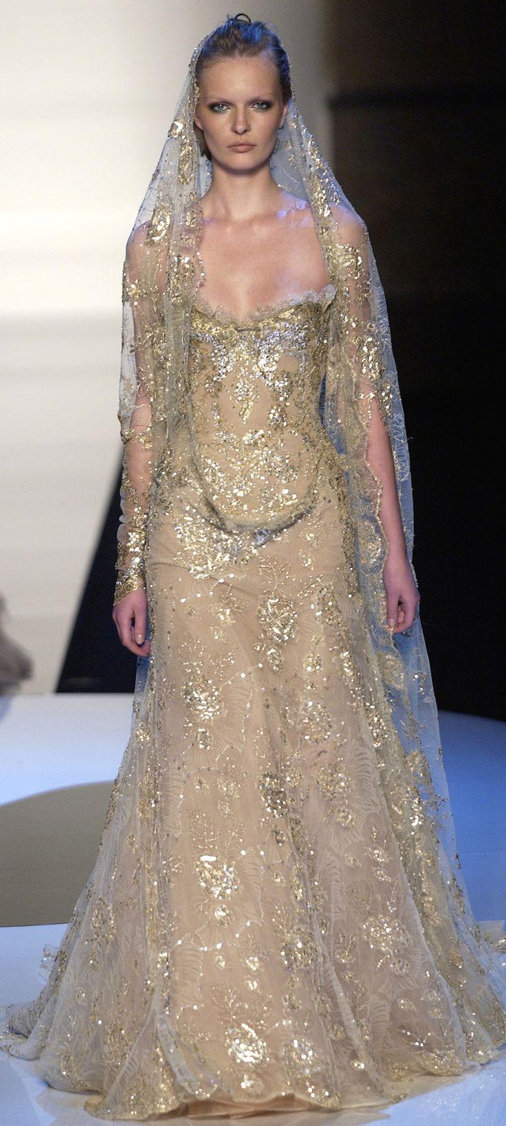 19 best Gold wedding dress images on Pinterest | Wedding frocks ...