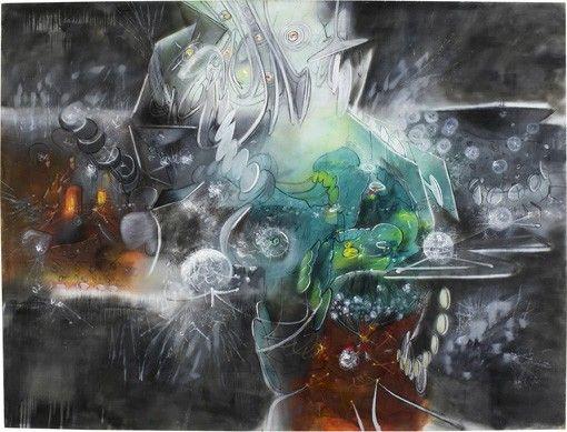 "oil on canvas, 10' x 13' 2-3/4"" (304.8 cm x 403.2 cm), 1967"