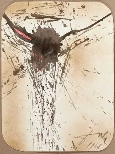 I am amazed by the beauty of this - as abstract as it is - it is still so clearly Christ on the Cross, (Salvador Dali 1961)-Large Wood Framed/Glass/Print