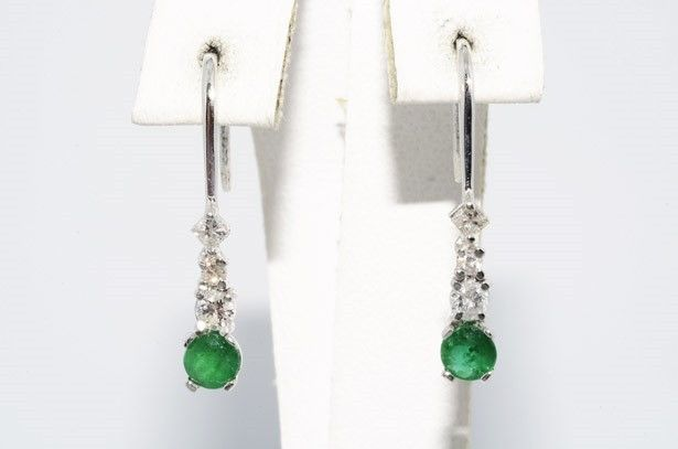 Add our Store to your Favorites and receive our email newsletters about new items and special promotions! General Interest Natural Green Emeralds: .50... #earrings #white #gold #dangle #stone #emerald #diamond #natural