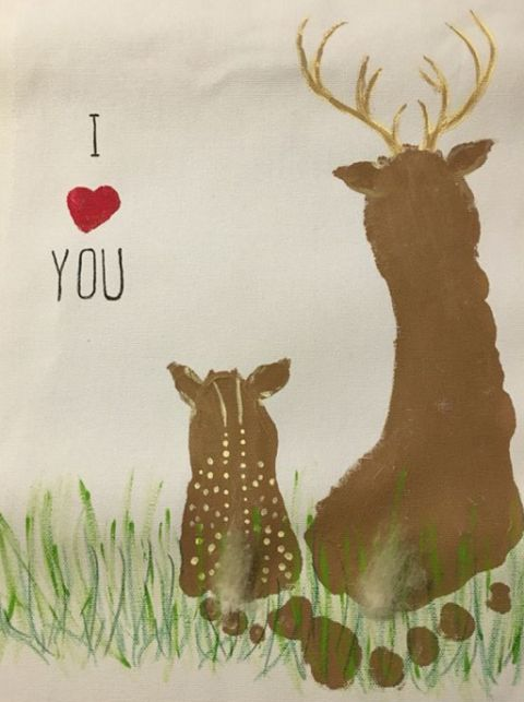 463 best crafts for fathers day images on pinterest parents day footprint deer fathers day kids craft must do for k solutioingenieria Images
