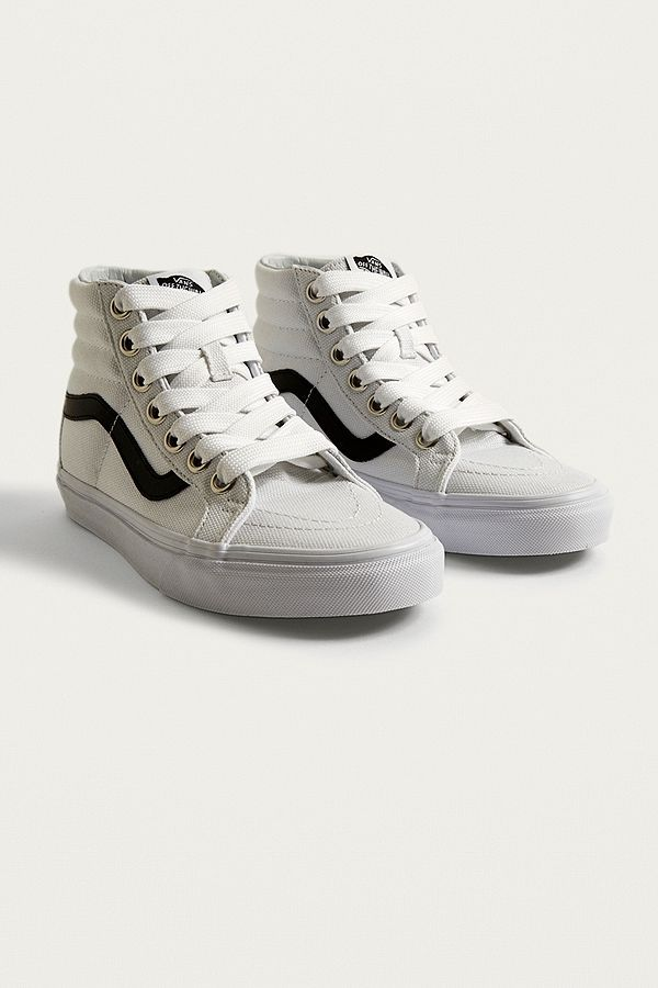 Vans Sk8-Hi Reissue White and Black Trainers  8aad3e06a