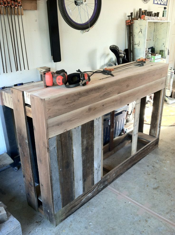 Current Project Sideboard Made From Reclaimed Redwood