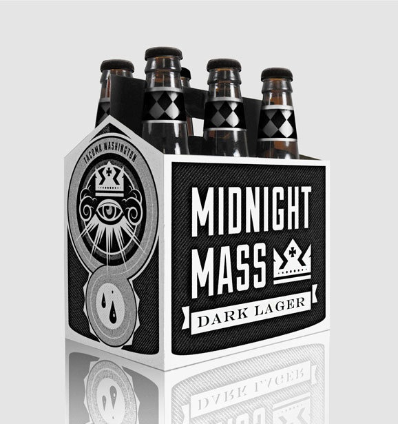 Midnight Mass - Beer Branding by Austin Holloway, via Behance