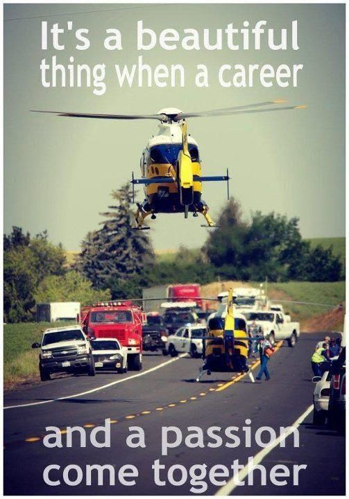 It's a beautiful thing when a career and a passion come together. #EMS